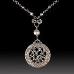 Latticework pendant by Jonna Faulkner. Photo by Steve Rossman