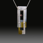 Mixed Metal Pendant by Deb Jemmott. Jewelry Photography by Steve Rossman.