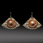 Nautilus Fan earrings by Jonna Faulkner. Photo by Steve Rossman.
