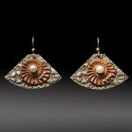 Nautilus Fan earrings by Jonna Faulkner. Photo by Steve Rossman.