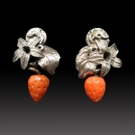 Strawberry Earrings by Jonna Faulkner. Photo by Steve Rossman