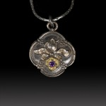 Victorian Flower pendant by Jonna Faulkner. Photography by Steve Rossman.