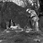 Ansel Adams shooting Mariana Cook. Photo by Steve Rossman.