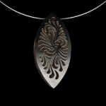 Silver Pendant by Tina Lee DeGreef. Jewlery photography by Steve Rossman.