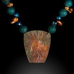 Patina Gods Pendant & Necklace by Christine Halverson. Jewlery photography by Steve Rossman.