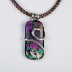 Glass & Silver Pendant by Judi Weers. Jewlery photography by Steve Rossman.