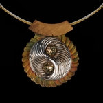 Mixed Metals Pendant by Judi Weers. Jewlery photography by Steve Rossman.