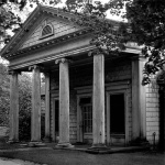 Neoclassic outbuilding - Nassau county, Long Island 1967. Architectural photography by Steve Rossman
