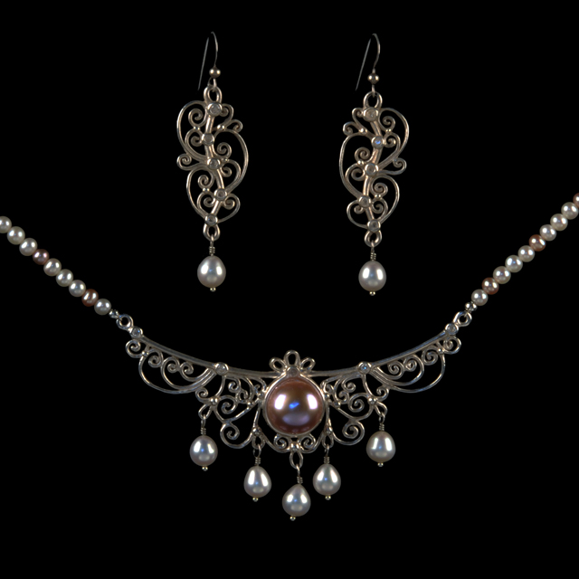 Linda_Grisham Jean - Romantic Filigree Necklace. Jewelry Photography by Steve Rossman