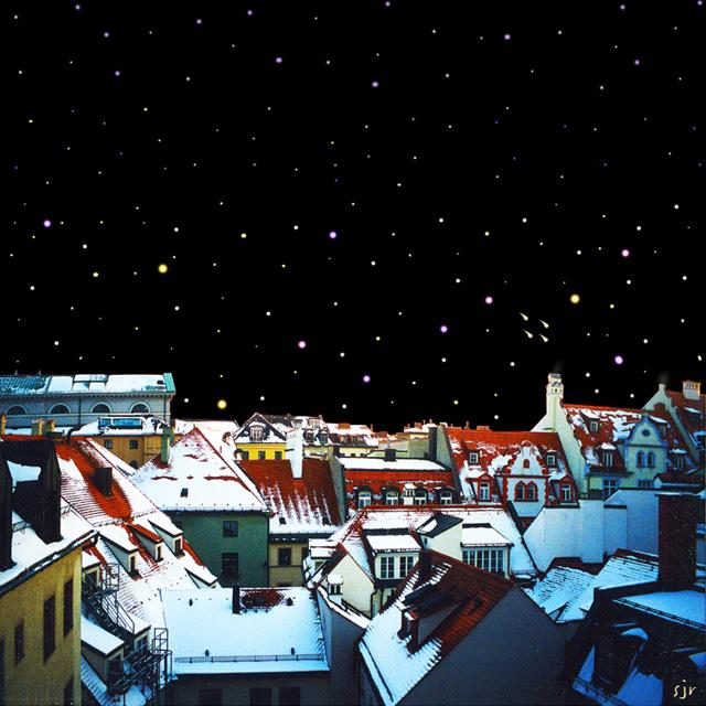 Munich rooftoops, Photoshop art by Steve Rossman