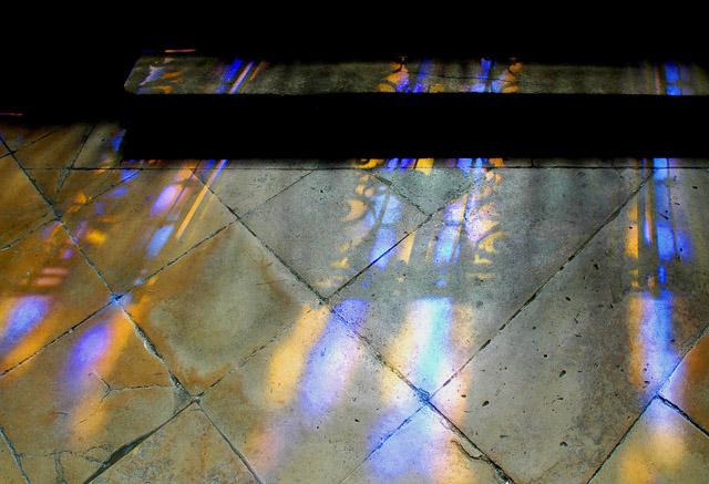 Eglise St-Eustache reflection-Paris. Photography by Steve Rossman