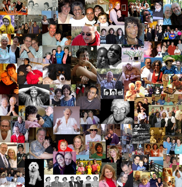 portrait collage - friends and family. Photos by Steve Rossman