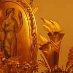 Musee Carnavalet Golden Mirror, Paris 2004. Photography by Steve Rossman