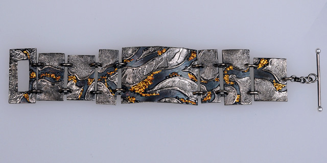 A River Runs Through It.  A panel bracelet by Jonna Faulkner.  Jewelry photography by Steve Rossman