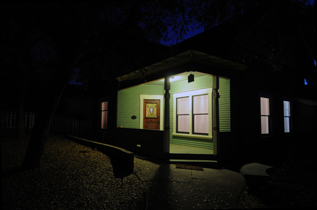 Night in Escondido in January. 701 S Juniper shooting south.  Photography by Steve Rossman.