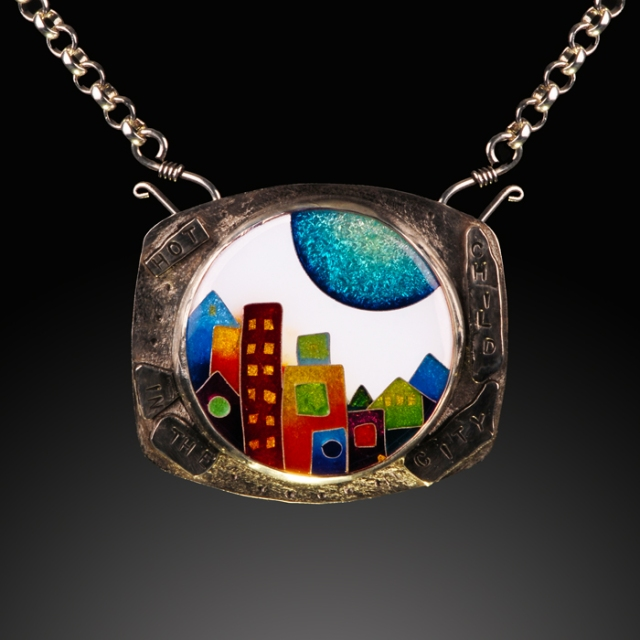 Hot Child in the City by Julie Holmes.  Cloisonne' photography by Steve Rossman