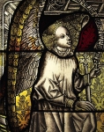 Cluny Stained Glass Angel. Hand-held photography by Steve Rossman
