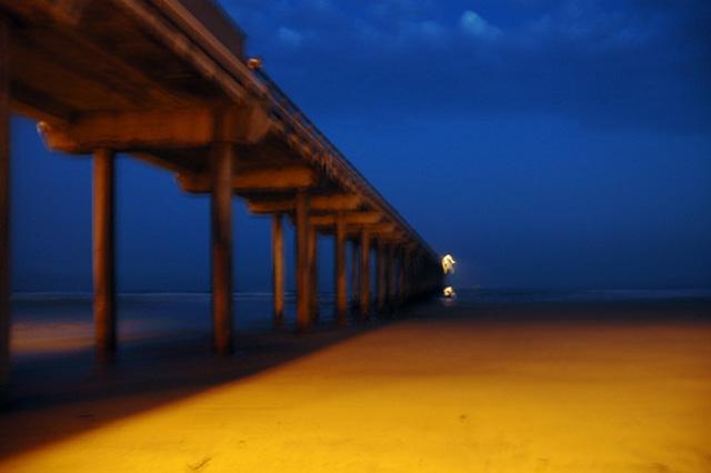 Scripps pier color study. Photography by Steve Rossman.