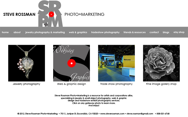 SRP+M New Web Front Page.  WordPress Web design by Steve Rossman