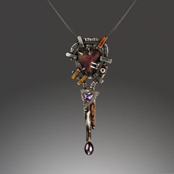 Totem Pendant #3 by Jonna Faulkner.  Jewelry photography by Steve Rossman.