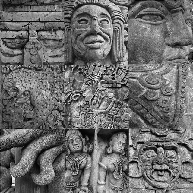 Audobon Zoo carving collage.  Photos by  Steve Rossman