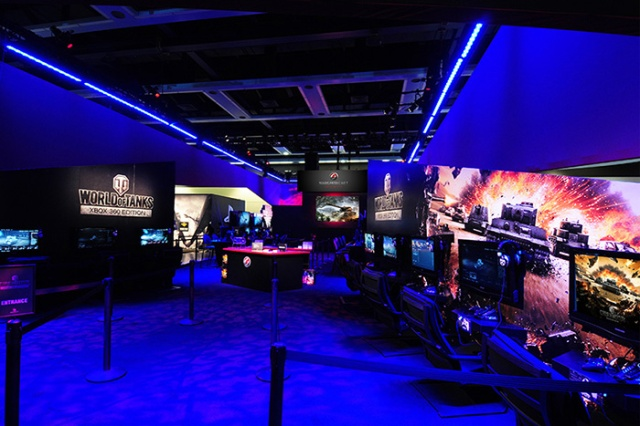 The Trade Group - Wargaming.net interior at PAX . Photo by Steve Rossman