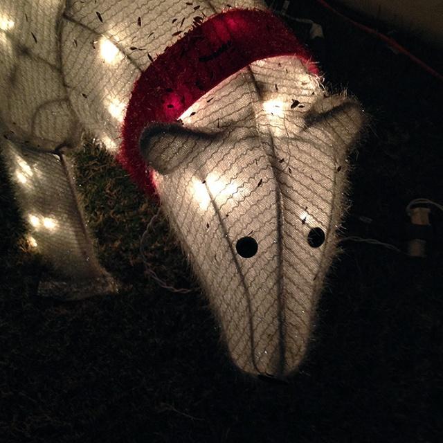 Christmas polar bear - Christmas lights photography by Steve Rossman