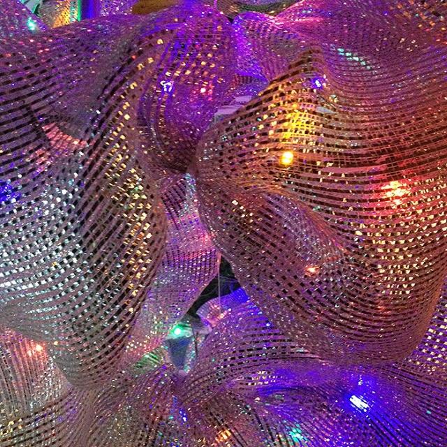 Christmas Ribbon - Christmas lights photography by Steve Rossman