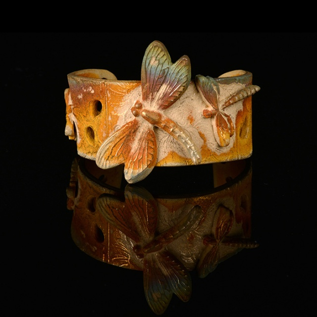 Butterfly Goldie Bronze Cuff by Sharan Merchant.  Jewelry photography by Steve Rossman