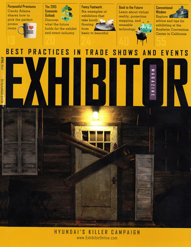 Exhibitor April 2015 cover - exhibit photo by Steve Rossman