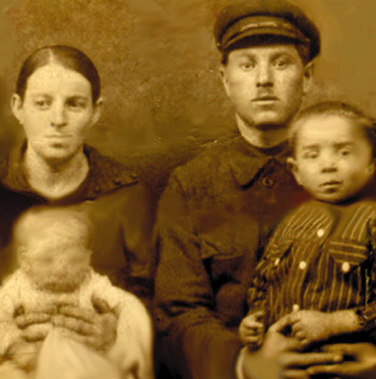 Rossman Family Immigration photo - Final - photoshop restoration by Steve Rossman