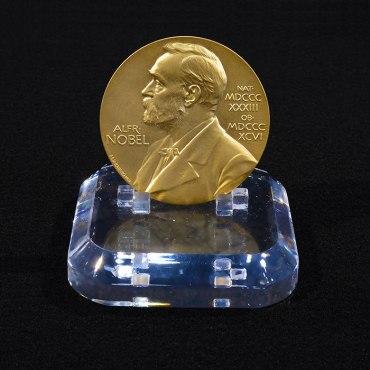 Dr Nakamura's Nobel Award . Photography by Steve Rossman